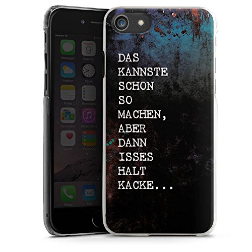 Apple iPhone X Silikon Hülle Case Schutzhülle Kacke spruch Statement Hard Case transparent