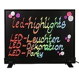 LED-Highlights Deko Leuchtschild Reklame Tafel 40 x 30 cm Controller 7 Led Farben Leuchttafel Werbeschild 8 Neon Stifte Buchstaben bunt beschreibbar