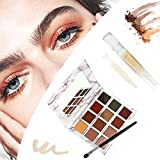 invisible double eyelid glue and gel - eyeshadow makeup palette 12 colors matte