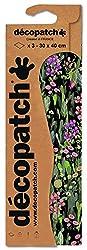 Decopatch Papier No. 741 (grün pink Blumenwiese, 395 x 298 mm) 3er Pack