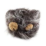ToGames-ES Disfraz de Mascota Peluca de Melena de león para Fiesta de Navidad de Halloween de Gato. Vestir con Oreja.