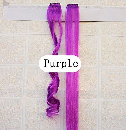 Chiguo Donna Extension dei Capelli Parrucca Clip Vera Allungamento 3 Clips 60 cm Liscio Lisci / Ric