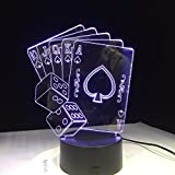 Würfel Poker Spielkarte Kreative 3D led Nachtlicht für Baby Schlafzimmer USB Lampe Magier DecorIllusion Lampe Illusion LampCh