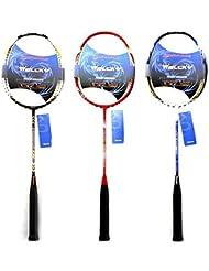 Moppi Fibra de carbono raquetas de bádminton raqueta de alta gama con la bolsa