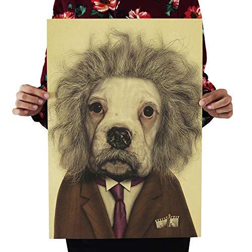 Animal Pet Star Face Creative Spoof Poster Retro Kraft
