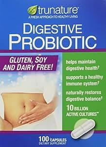 TruNature Digestive Probiotic Capsules, 100 Count