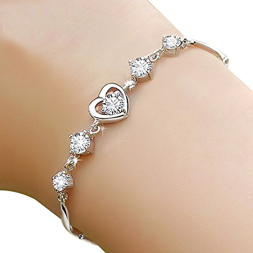 huiyin-jewelryr-s925-sterling-silver-romantic-heart-shape-diamond-women-bracelet-19cm-with-extended-