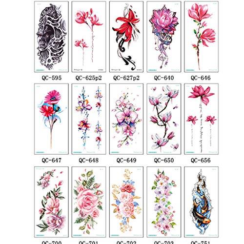 Joylora TemporäR TäTowierung, Schwarz Tattoo Farbe KöRperkunst Tattoo Aufkleber Fake Arm Tattoos Sticker FüR MäNner Frauen Ink Blumen, Totem Grafiken(25 ()