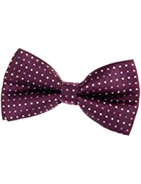 """Vintage Three-Colour Polka Dots Woven Pre-tied Bow Tie (5"""") - Various Colors"""