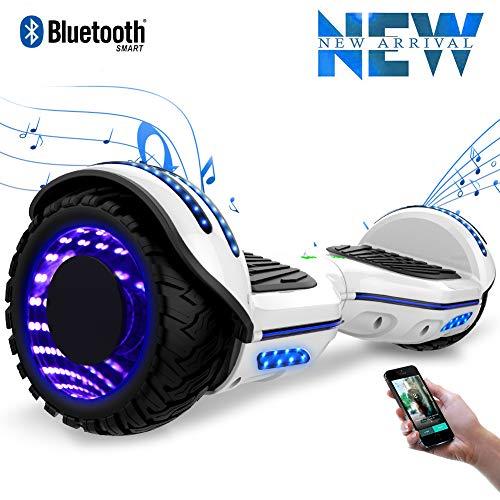 "Cool&Fun 6,5"" Elektro Scooter Self Balance Scooter E-Skateboard 350WX2 LED Räder(White)"