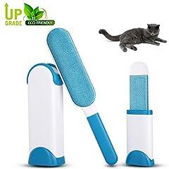 Idea Regalo - SZSMART Pet Spazzola, Spazzola magica elimina Peli animali Cani Gatti, Pet & Lint Remover, Spazzola Togli Peli Riutilizzabili (Blu)