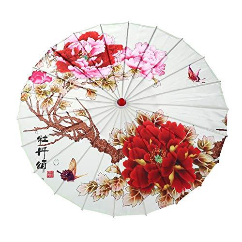 Kostüm Sonnenschirm - WEISY Papierregenschirm-Abendkleid, chinesischer Landschaftsmalerei-Sonnenschirm-dekorativer Öl-Papierregenschirm für Klassische Cheongsam-Tanz-Foto-Stützen