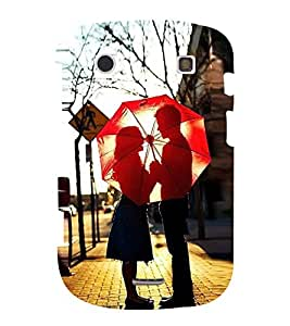 Fuson Designer Back Case Cover for BlackBerry Bold Touch 9900 :: BlackBerry Dakota :: BlackBerry Magnum (Lovely Couple Couple In Love Couple With Umbrella Red Umbrella Nice Couple Made For Each Other)