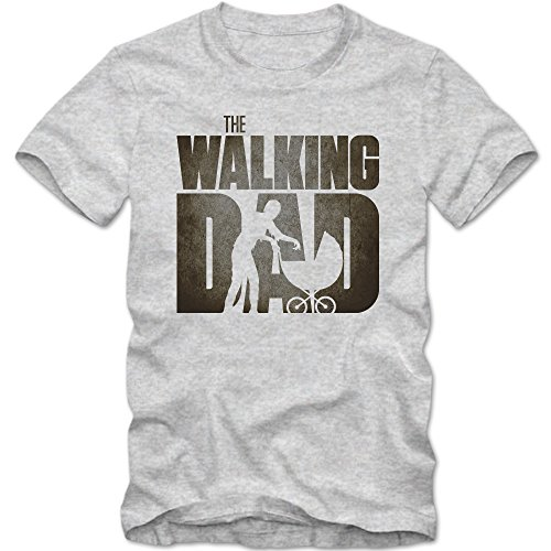 TWD T-Shirt | Men | Fantasy | Science-Fiction | TV Series Fun Shirts, Colour:Grey Basic (Heather Grey Melange);Size:XXXXX-Large