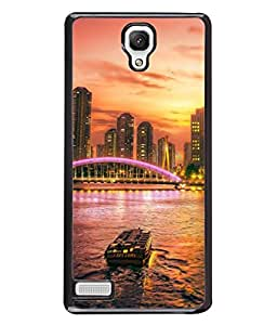 PrintVisa Designer Back Case Cover for Redmi Note / Note 4G (sea view of lighted buildings)