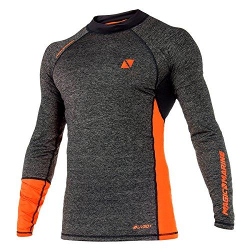 Magic Marine Herren Funktionsshirt Energy Rashvest L/S, Farbe:orange, Größe:XL