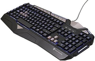 ThunderX3 TK25 - Teclado gaming de membrana (máxima eficiencia, capacidad anti-ghosting, retroiluminación LED), negro