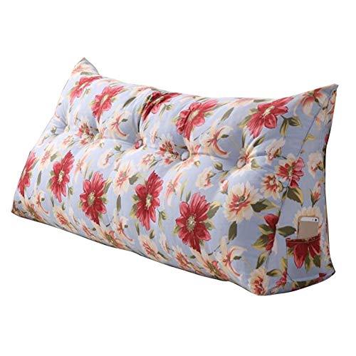 GUOWEI große Rückenlehne Kissen Kissen Rückenlehne Bett Zubehör Weicher Fall PP Baumwolle Weich Strebe Lendenwirbel Entfernbar Einfach, 5 Farben, 7 Größen Nachttisch