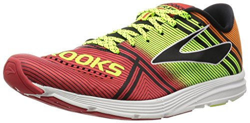 Brooks Hyperion, Zapatos para Correr para Hombre, Multicolor (High Risk Red/Nightlife/Orange Peel), 43 EU
