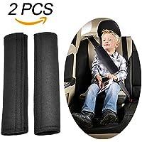 Gurtpolster für Kinder, Aodoor Auto Sicherheitsgurt Schulterpolster Gürtelkissen Schutzkissen Abnehmbar Schlafkissen für das Auto (Schwarz)
