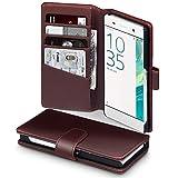 Sony Xperia XA Case, Terrapin [ECHT LEDER] Brieftasche Case Hülle mit Kartenfächer und Bargeld für Sony Xperia XA Hülle Braun
