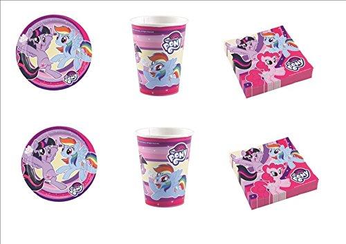 My Little Pony New coordonné décorations fête table enfants - Kit N ° 4 CDC- (32, 32 verres, 40 assiettes 40 serviettes)