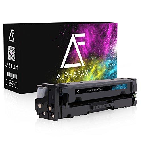 Alphafax Toner kompatibel zu HP CF401X für HP Laserjet Pro MFP M277dw, Laserjet Pro MFP M277n, Laserjet Pro M252dw, Laserjet Pro M250 Series - 201X - Cyan 2.300 Seiten