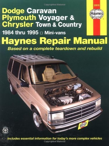 dodge-caravan-plymouth-voyger-and-chrysler-town-country-repair-manual-1984-thru-1995-mini-vans-1st-e