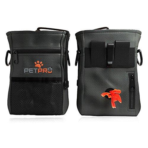 PetPro bolsa de perro con bolsa de almacenamiento y bolso plegable para viaje, comida y agua – bolsa impermeable para caminar con bolsa de basura incorporada dispensador de bolsas de basura y cinturón ajustable 100% garantía de devolución política