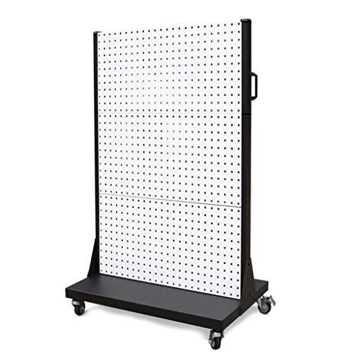Kitchen furniture - Présentoir de panneau perforé carré fixé au mur, support de finition de support d'outil de matériel WXP (Couleur : Blanc)