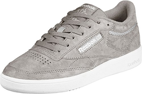 new concept 09c4a a7c36 Reebok Damen Club C 85 Trim NBK Tennisschuhe, Grau (Powder Grey White