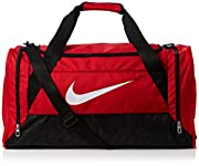 The Nike Brasilia 6 Medium Grip Duffle Bag is great for carrying a large range of different items thanks to the large main compartment that can easily fit your kit together with 2 smaller pockets, one that is ventilated for shoe or wet/dry st...