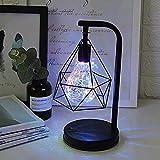 Lámpara de mesa con bombilla LED Lámpara de mesilla con pilas Iluminación nocturna Forma de diamante Lámpara de mesa decorativa retro moderna