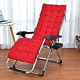 Respaldo alto asiento cojín, reclinable silla/tumbona silla cojín suave calor almohadilla...