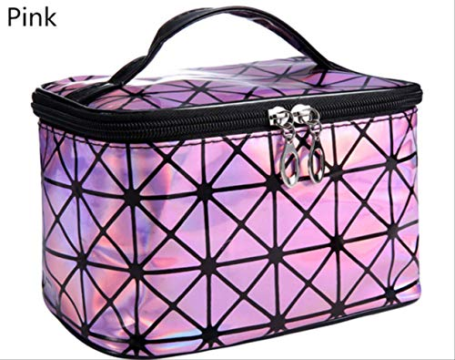 Paket Txxzn Damen Multifunktionale Kosmetiktasche Flash Diamond Leather Organizer Kosmetik Aufbewahrungstasche rosa - Chanel Gepäck