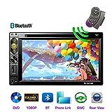 Topudo Doppeltes Lärmautoauto-Stereoradio 6.2 '' hochauflösender Touch Screen Auto-DVD-Spieler mit Bluetooth FM-Radioempfänger