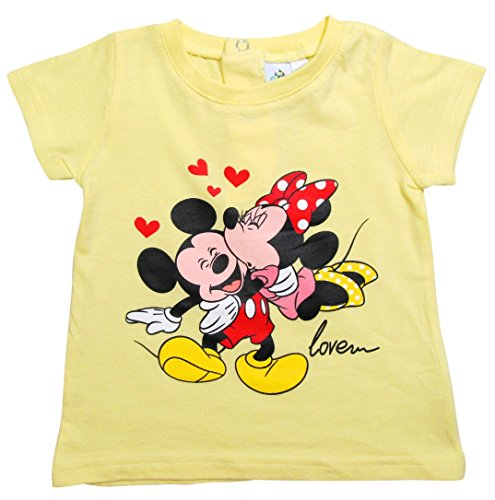 Minnie Mouse Kollektion 2016 T-Shirt 68 74 80 86 92 Mädchen Sommer Shirt Kurz Mickey Mouse Maus Gelb (68 - 74, Gelb)