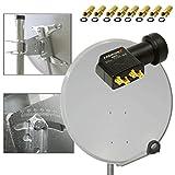 PremiumX Digital SAT Anlage 100 cm ALU Schüssel Spiegel Antenne