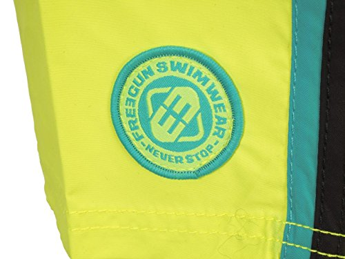 Freegun - Ass2 jaune boardshort - Short de bain Jaune