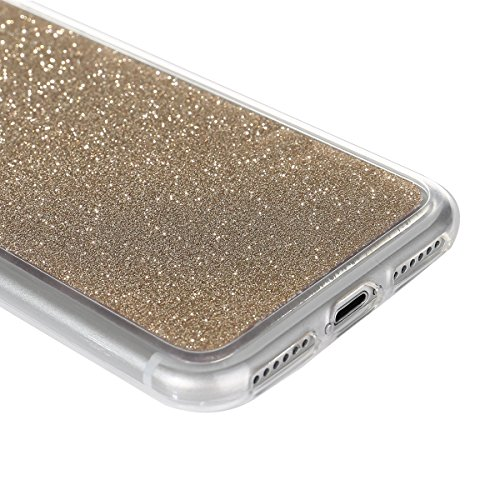 iPhone 7 Bling Coque,iPhone 7 Case,iPhone 7 Etui - Felfy Ultra Mince Silicone Gel TPU Housse Bling Shiny Sparkle Glitter étoile Placage Coque Housse de Protection Etui Anti Scratch Case Cover Case Bum Or
