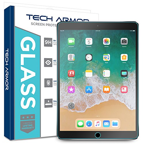 Tech Armor Ballistic Glass Screen Protector Designed for Apple iPad Air 3 (2019), iPad Pro 10.5 inch - Case-Friendly, Tempered Glass, Ultra-Thin, Scratch and Impact Protection [1-Pack] (Touch-screen-reiniger)