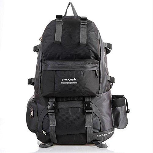 50L Outdoor-Rucksack-Beutel-wasserdichte Bergsteigen Wandern Camping Reisen Daypack Gray
