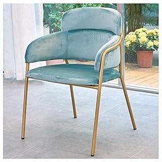 Barhocker Esszimmerstuhl Lounge Chair mit Armlehnenstuhl für Western Restaurant Cafe Bar (Farbe : Blau)