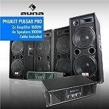 DJ PA Komplettset Phuket Pulsar Pro (4x Auna PW-2222 Boxen + 2x Skytec PA-1000 Verstärker)