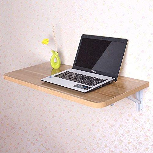 DEO Bureau d'ordinateur Table pliante, Table murale, Bureau de table à abattant mural, Table de salle à manger en bois cuisine 6 couleurs durable (Couleur : White maple, taille : L100*W40)