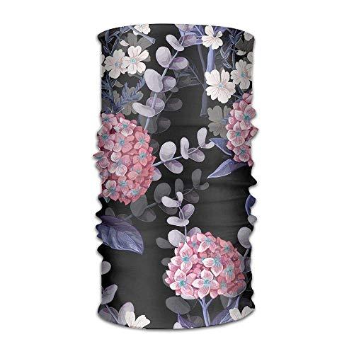 Preisvergleich Produktbild Uosliks Multifunctional Headwear Hydrangeas Cotton Flowers Print Head Wrap Sports & Casual Headband Bandana for Women and Men