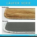 matches21 Küchenläufer Teppichläufer Teppich Läufer Gänseblümchen & Herzen auf Holz 50x120x0,4 cm maschinenwaschbar - 3