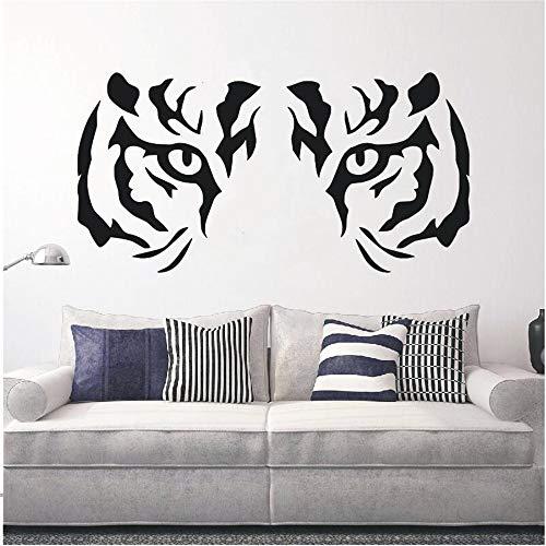 Kunst Wohnkultur Tiger Tier Predator Wandtattoo Vinyl Aufkleber Schlafzimmer Wohnzimmer Dekoration Wandbild Tapete 83 * 42 cm (White Tiger Wandtattoo)