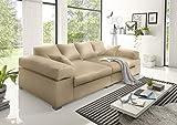 Reboz Big Sofa weiß grau beige braun schwarz Megasofa Kunstleder (Creme)