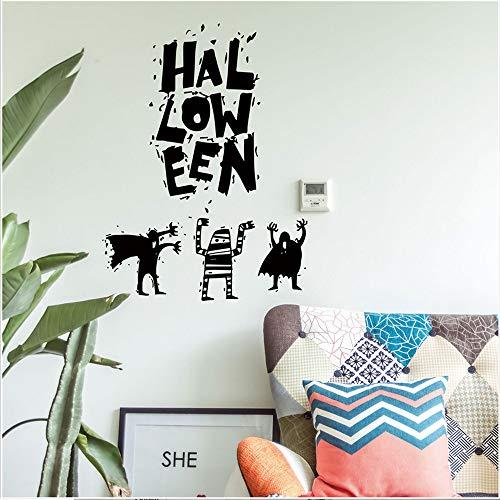 Shuyinju 3D Halloween Horror Decor Lebendige Geist Fledermaus Scary Wandaufkleber Abnehmbare Neue Ankunft Halloween Hexe Hintergrund Dekoriert Wohnzimmer Schlafzimmer Wandaufkleber Neue Ankunft